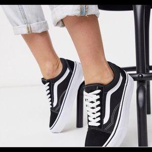 Vans Old Skool black and white kids sneakers 3.5